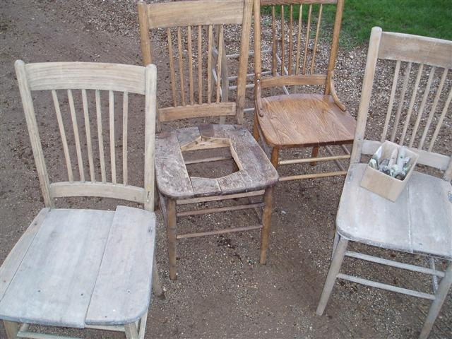 Five kitchen chairs - before